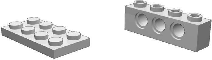 Plate e brick Technic