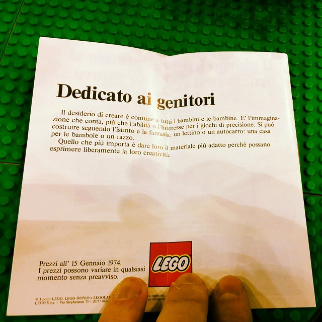 Yes, it's THAT ad in Italian. #lego #1974