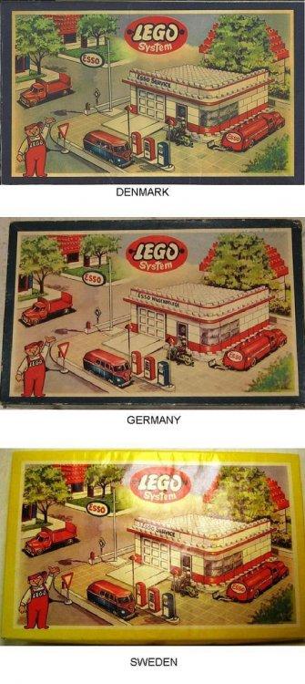 Lego 1310 Esso Station 1955 svedese danese tedesca.jpg