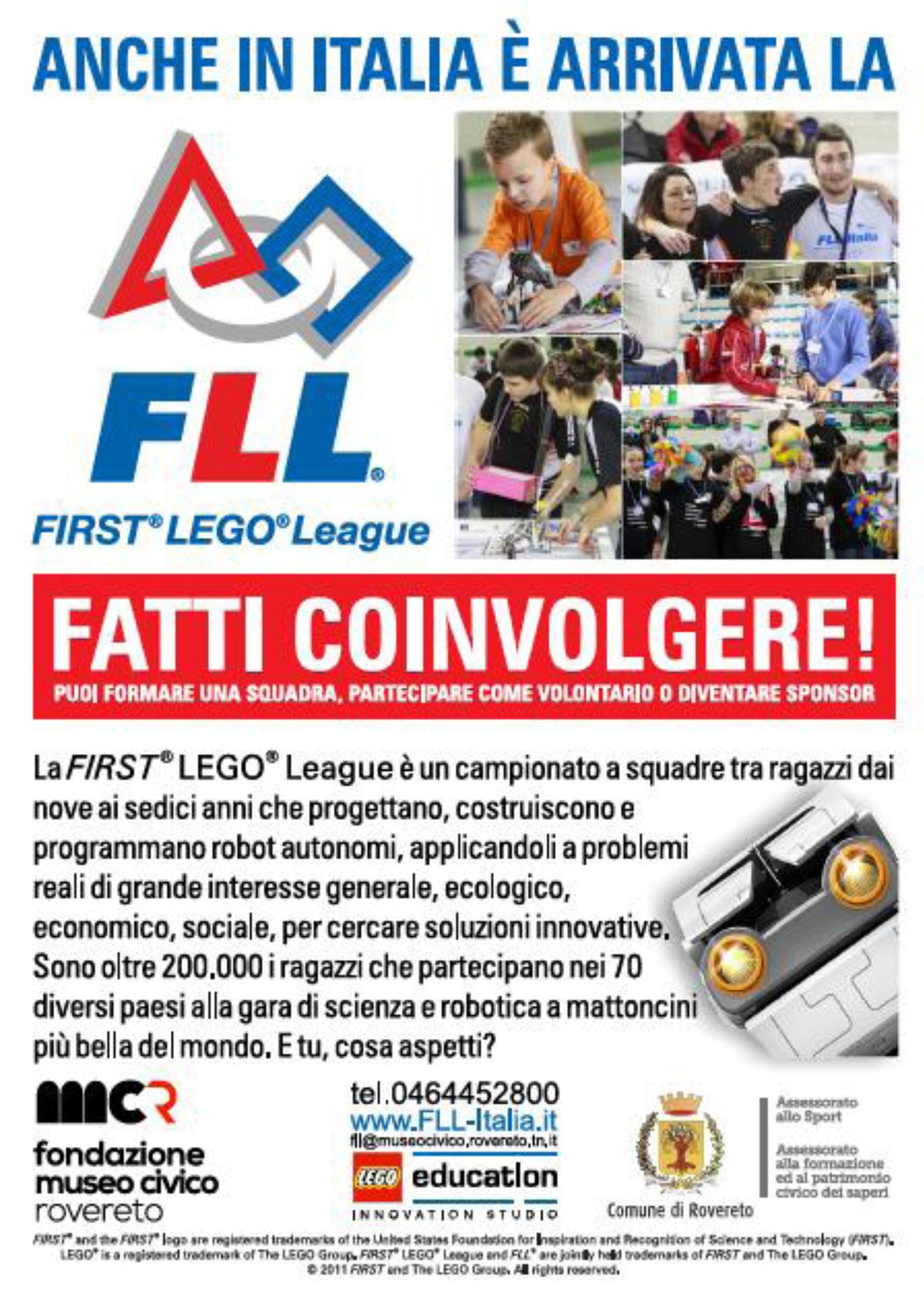 """ItLUG partecipa a """"FIRST LEGO League ITALIA"""""""