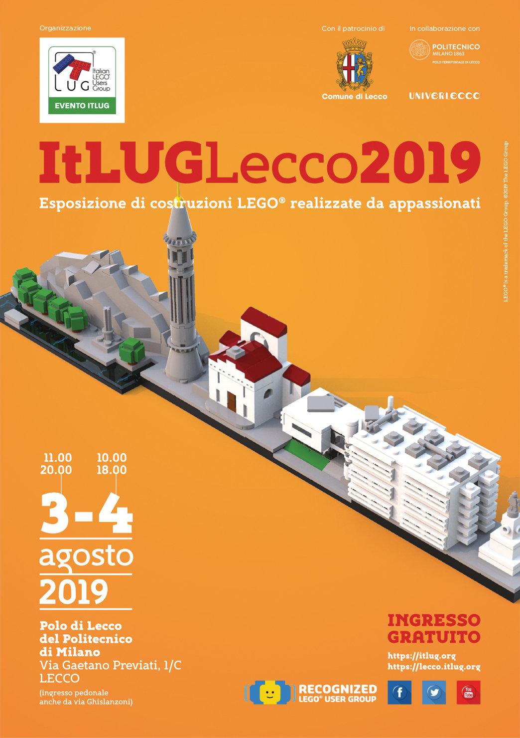 Locandina di ItLUG Lecco 2019